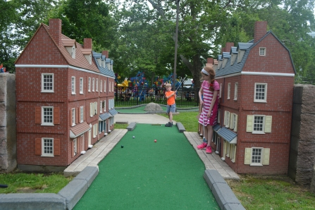 Mini-golf in Franklin Square takes you through a mini-Philly. This is Elfreth's Alley, the oldest residential street in America.