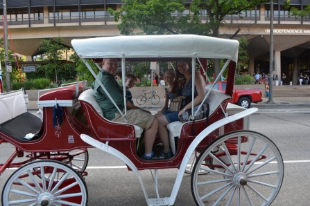 We just had to take a carriage ride around town.
