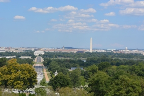 view of DC from Arlington House