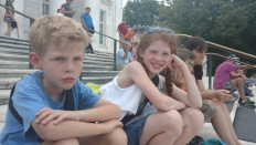 watching the changing of the guard at Tomb of the Unknown Soldier