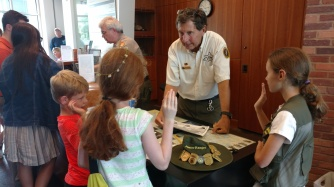 The girl getting her Junior Ranger badge with us just moved to Maryville, TN - not too far from our home!