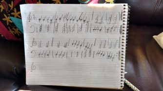 CQ carried around a notebook and kept writing down music. I finally had to tell her to just put it away and focus on what was around her!