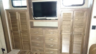 the storage space in one of the RVs in the first RV place