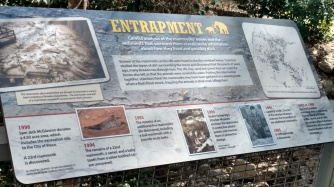 the sign explaining the findings