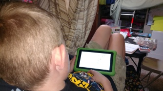 MB reading Frog and Toad to me