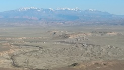La Sal mountains in the distance