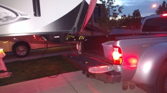 detaching the RV from the truck