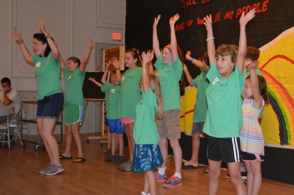 Many of the kids spontaneously went up front to help lead the singing at VBS.