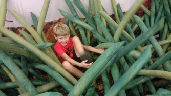 giant grass in the Eric Carle exhibit