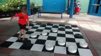 He totally stomped me at checkers...