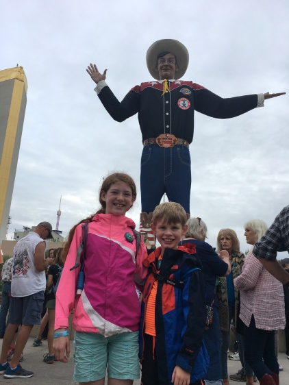 this is us kids with big tex