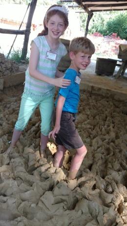us walking in clay