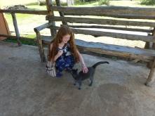 me petting shadow