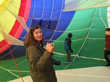 we got to go in a balloon