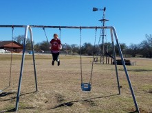 me on the swings