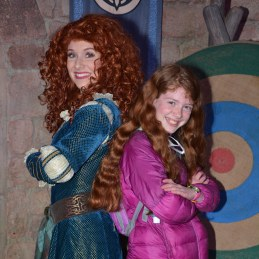 "me with my ""twin"" Merida"